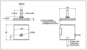 Ventouse électromagnétique rupture courant 605, schéma détaillé