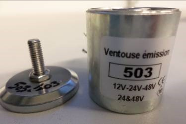 Electromagnet with permanent magnet 503