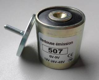 ventouse électromagnétique aimant permanent 507